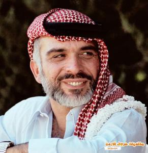 الملك حسين بن طلال وزوجته